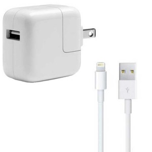 iPad Lightning USB Cable & Wall Charger Bundle (Original)