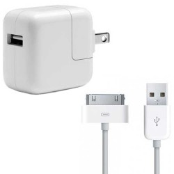 iPad 30-Pin to USB Cable & Wall Charger Bundle (Original)