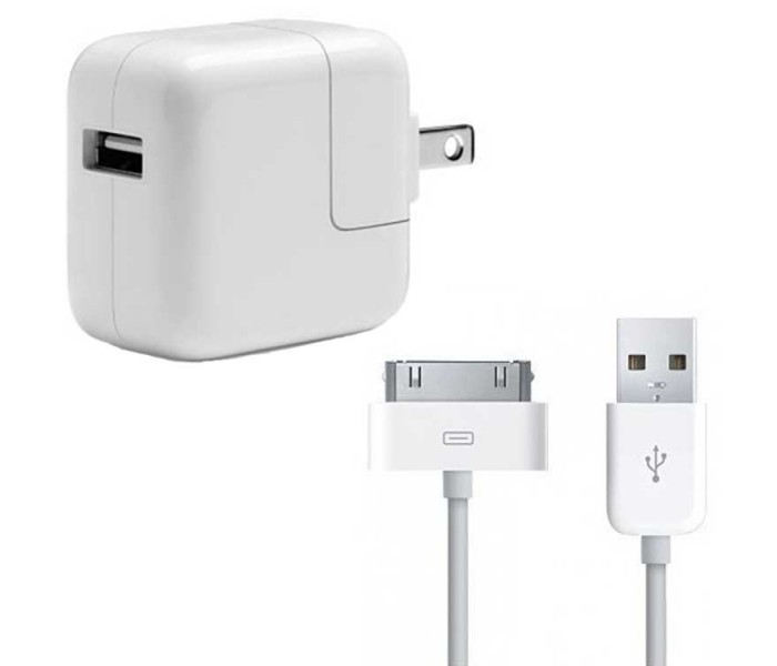iPad iPhone 30-Pin to USB Cable & Wall Charger Bundle