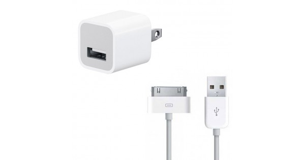 Iphone 30 Pin Usb Cable Amp 5w Power Adapter Charger Bundle