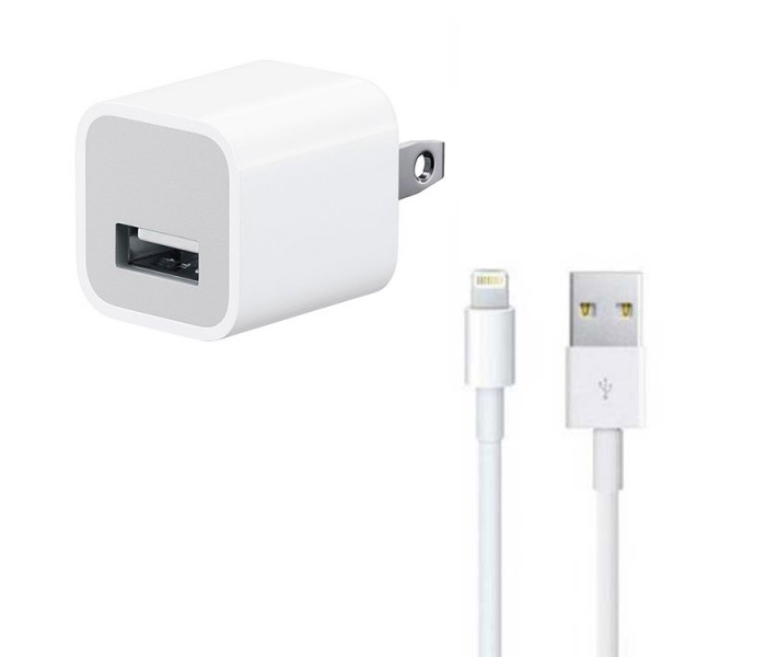 Iphone Lightning Usb Cable Amp Wall Charger Bundle
