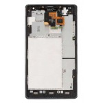 LG Optimus G LCD Digitizer Assembly with Front Housing Frame (Black)