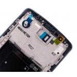 LG G3 LCD Touch Screen Digitizer + Front Frame (Black, Original)