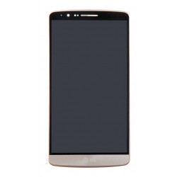 LG G3 LCD Touch Screen Digitizer + Front Frame (Gold, Original)