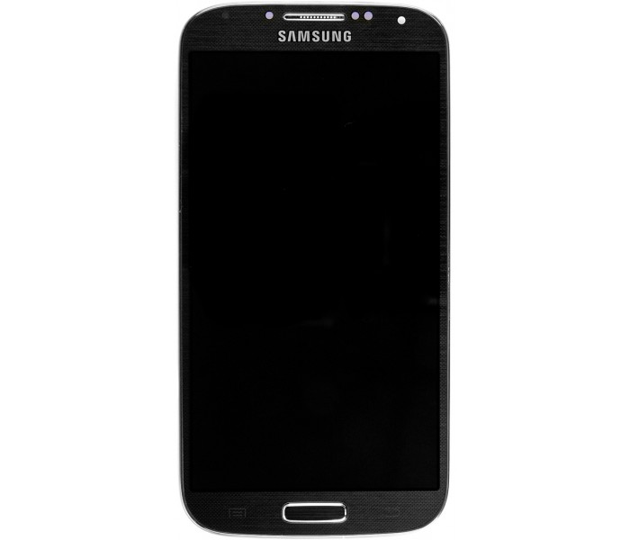 Samsung Galaxy S4 LCD Digitizer Assembly + Front Housing Frame - Black