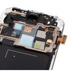 Samsung Galaxy S4 LCD Digitizer Assembly + Front Housing Frame - White