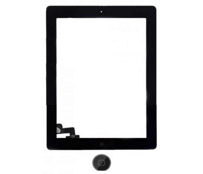 iPad 1 Screen Digitizer Assembly (Home Button and Adhesive) - Black