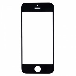 iPhone 5 5C 5S Screen Glass Lens Replacement (Black, Original)