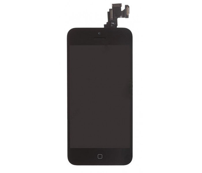 iPhone 5C LCD Full Assembly with Front Camera & Home Button - Black
