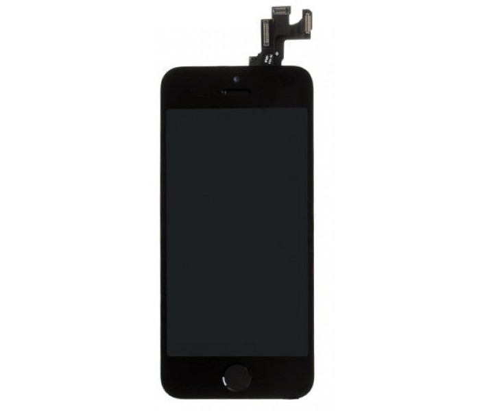 iPhone 5S LCD Assembly with Front Camera & Home Button - Black