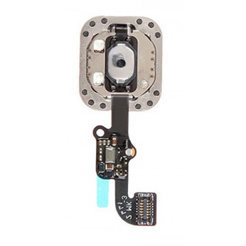 96035015f30 iPhone 6 Home Button Assembly + Touch ID Sensor (White/Gold)