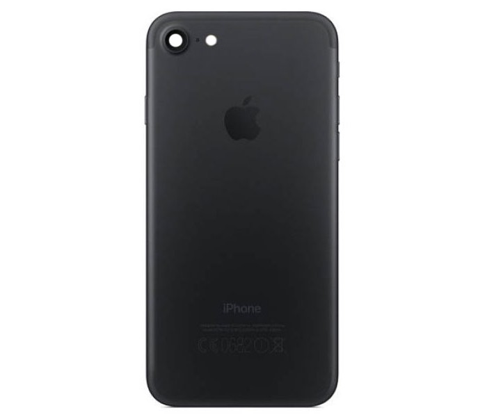 iphone 7 back housing black. Black Bedroom Furniture Sets. Home Design Ideas