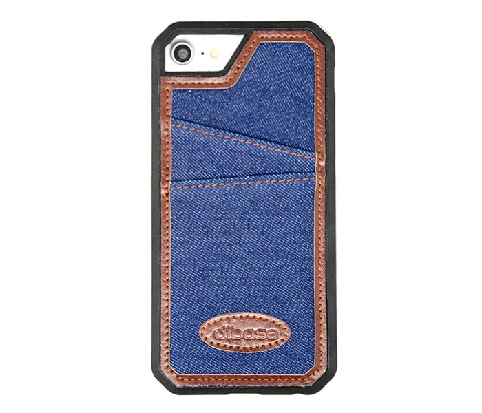iPhone 7 / 8 Denim Jean Case with Card Pocket - Dark Blue