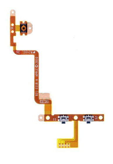 Ipod touch power and volume button flex cable
